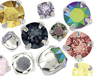 Category Swarovski Round Stones In Settings 1