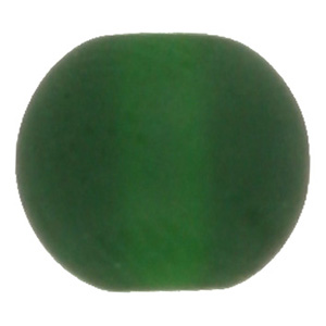 GB243F std cols - round pressed frosted glass beads - standard colours