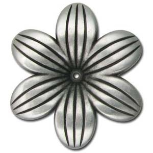CCB37-2 48x7mm flower antique silver