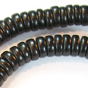 DWP8-4 Dyed wood bead, pucalet - black