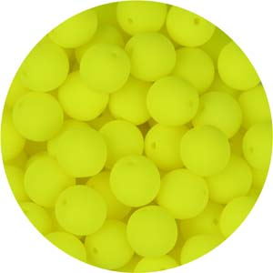 GB5-95 round pressed glass beads - neon lemon