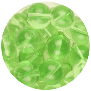 GB241T-14 pressed transparent glass beads - peridot