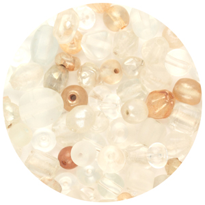 CTGBSM-1 - small glass bead mix, crystal - candy tube