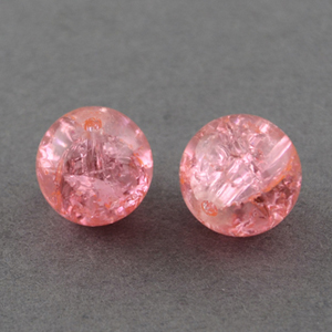 GCB06-16 glass crackle beads - pale pink