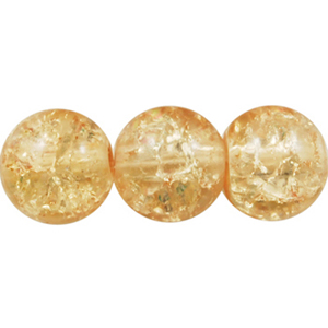 GCB10-2 glass crackle beads - light caramel