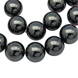 SP-HERB04 Hematite beads - round, black