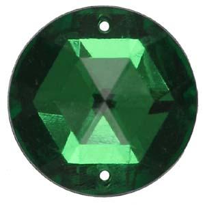 PES1 18mm round plastic stone