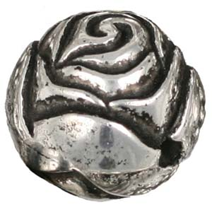 PMB9-2 small rosebud - antique silver
