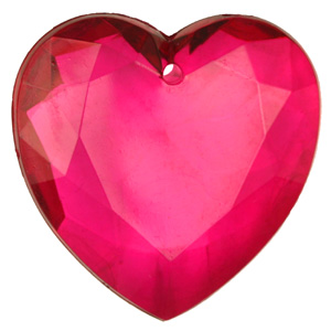 PP12 T Faceted heart transparent colours