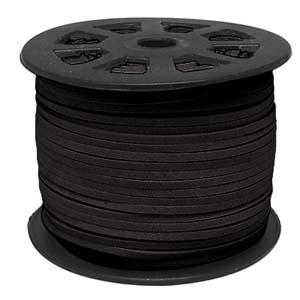 S251 black faux suede cord - black