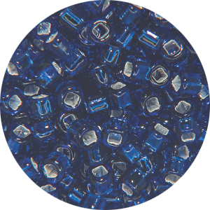 SB11 074 Matsuno seed beads - silver lined dark blue