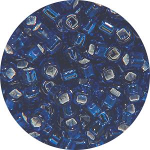 SB11 074Matsuno seed beads - silver lined dark blue