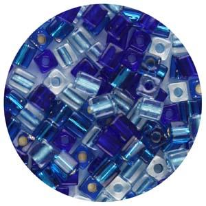 SB4-M3 Miyuki square beads - blues mix
