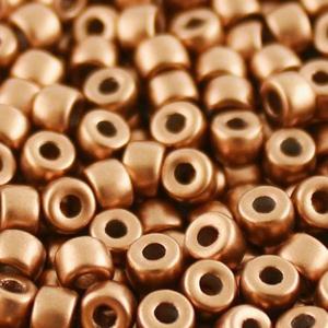 SBP6-242 Matubo Czech size 6 seed beads - crystal bronze copper