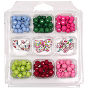 SBX-PBCH opaque acrylic bead & charm selection box - multi