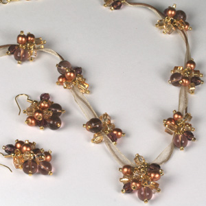kit 151 Kit 151 Bead Cluster & Ribbon Necklace & Earrings