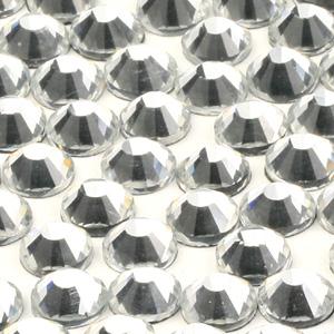 JS28V-1 Chinese flatback crystals, foiled -  crystal