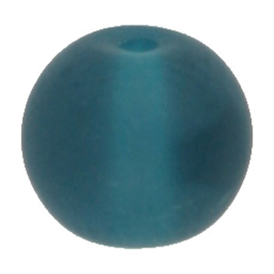 GB243F-4 round pressed frosted glass beads - aqua