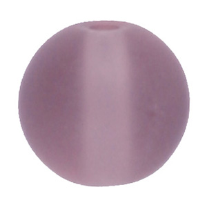 GB243F-5 round pressed frosted glass beads - light amethyst