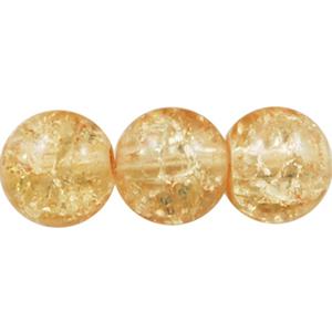 GCB06-2 glass crackle beads - light caramel