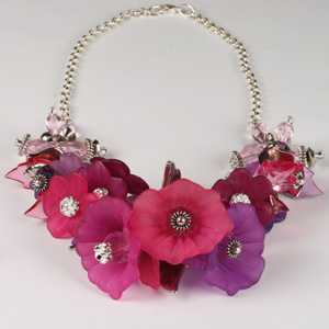Kit 126A Frosted Flowers Necklace & Earrings