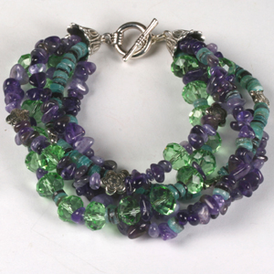 kit 147 Kit 147 Crystal & Semi-Precious Twist Bracelet & Earrings