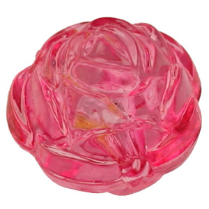 PB102 T flower beads - transparent colours