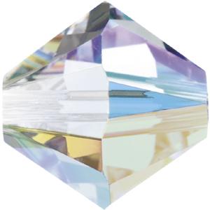 CGB9S-1 Swarovski 4mm xilion bicones - crystal AB