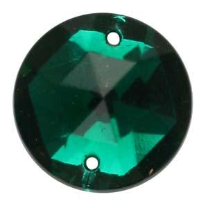 ES5-3glass embroidery stone  -emerald