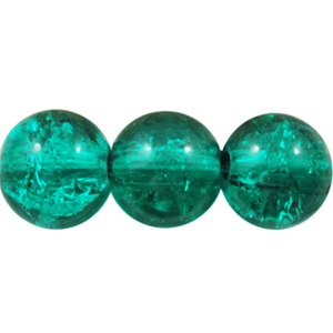 GCB10-10 glass crackle beads - green turquoise