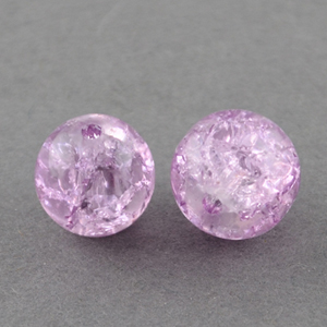 GCB12-5 glass crackle beads - lilac