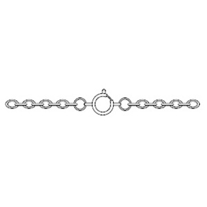 JF46-2 - silver plated cable chain necklet