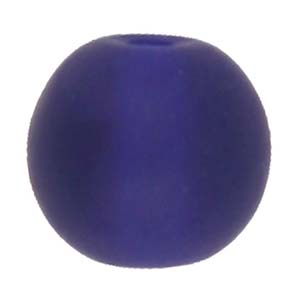 GB243F-7 round pressed frosted glass beads - royal blue