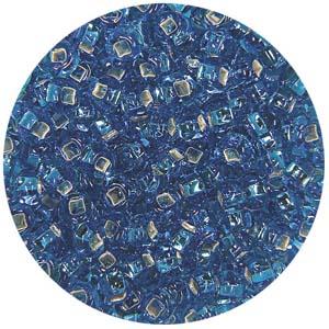 SB10-10 Czech size 10 seed beads, silver lined - aqua