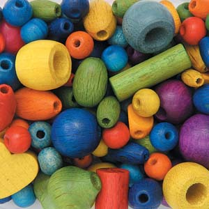 BP5 mixed wooden beads