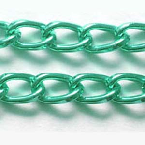 C59-11 aluminium curb chain - green