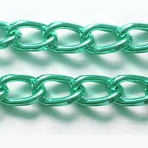 C59-11aluminium curb chain - green