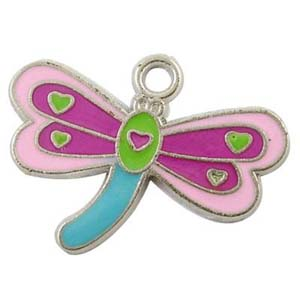 CH41 enamel dragonfly charm