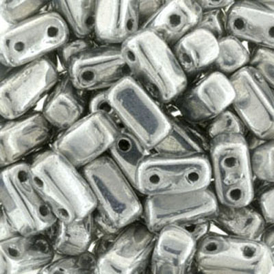 CMBK-211 CzechMates brick beads - crystal full labrador