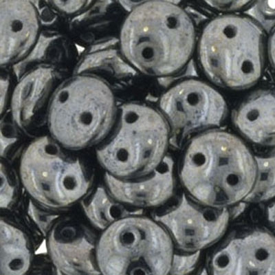 CML-3 CzechMates lentil beads - gunmetal (hematite)