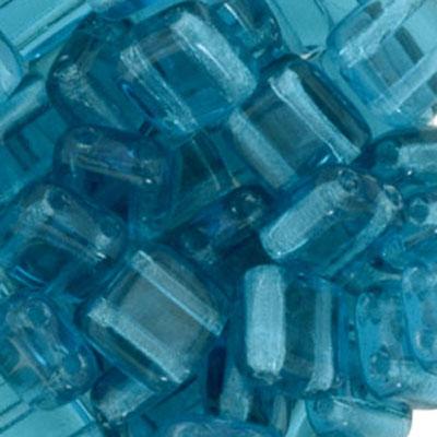 CMTL-166 CzechMates tile beads - transparent dark aqua