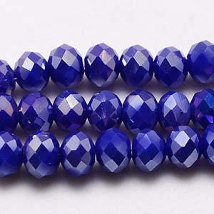 CRB1-113L medium puffy rondelle - sapphire opal full lustre