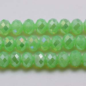 CRB1-118AB medium puffy rondelle - fern green opal AB