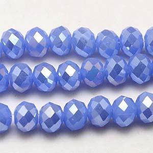 CRB1-129L medium puffy rondelle - light sapphire opal full lustre