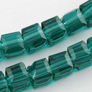 CRB17-27 crystal faceted cubes - blue zircon