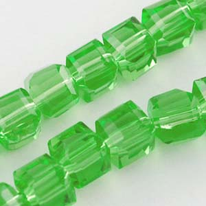 CRB17-110 crystal faceted cubes - fern green
