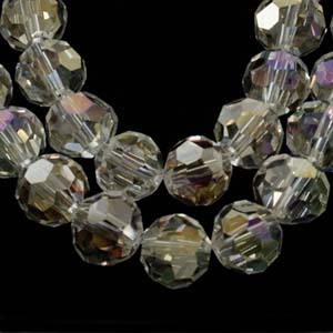 CRB22-1 crystal facetted round beads - crystal AB