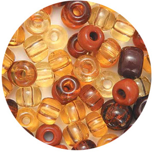 CTROC - mixed large rocailles - candy tube