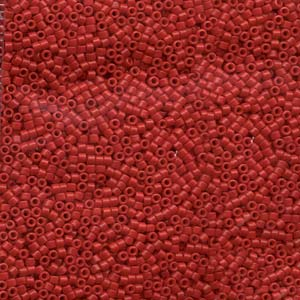 DB791 Miyuki Delica Beads -  dyed opaque red