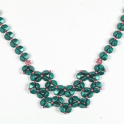 WS196-APR1 NEW Pinch Bead Necklace: Friday 28 April 10 30 am - 12 30 pm